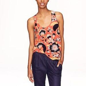 J. Crew Twist-back top in hibiscus floral
